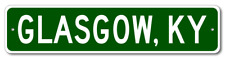 Glasgow, Kentucky Metal Wall Decor City Limit Sign - Aluminum