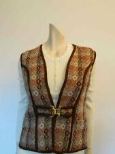 Brown Welsh Tweed Vest with Buckle Front - Bust 91-96 cm