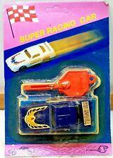 SUPER RACING CAR 79 Trans Am Blue w Launch Key PL-122 UNPUNCHED CARD VINTAGE