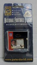 Official NFL, Houston Texans, David Carr Card Pin, Solid Brass & Enamels, NEW