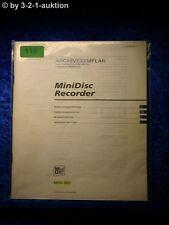 Sony Bedienungsanleitung MDS 302 Mini Disc Deck  (#0119)