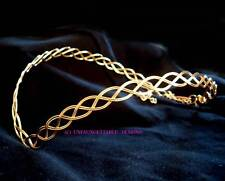 GOLD CELTIC/ELVEN CIRCLET CROWN ADJUSTABLE  - WILL FIT MAN OR WOMAN SCA