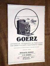 Pubblicità d'epoca per collezionisti del 1921 Macchina fotografica Goerz - Rossi
