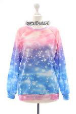 T-518 Fantasy Sky Stars estrellas Lolita suéter sudadera Harajuku japón pastel