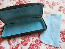 Ted Baker designer Black hard glasses case and cleaning cloth