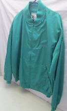 Vintage Men's XLG John Deere Jacket Solid Green Embroidered Snap Button USA