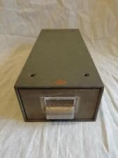 "GOOD MID CENTURY 'BOE' METAL CARD INDEX FILE,  TAKES 5X3"" (125mm X 75mm) CARDS"