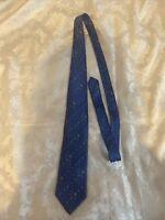 Men's Lanvin Paris Blue   Silk  Neck Tie Made in France