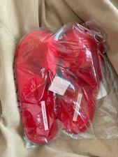 Victoria Secret Fuzzy Pom Pom Slippers RED Small (5-6) NWT