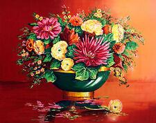 Alain Ragaru Hand Signed Lithograph Fine Art Print still life floral, France OBO