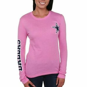 Dallas Cowboys Women's Stand Up Long Sleeve T-Shirt - Choose Size & Color