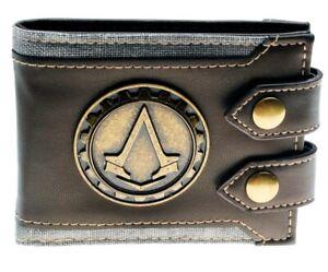 Assassins Creed Metal Badge Logo Bi-Fold Wallet