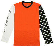 ASICS Tiger Happy Chaos Long Sleeve T-shirt Sz L Large Orange Tokyo Japan