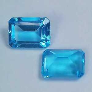 3.40 Cts Dazzling Natural Swiss Blue Topaz Cushion Custom Cut Matching Pair