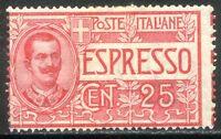 Regno d'Italia 1903 Espresso n. 1db * varietà (l385)