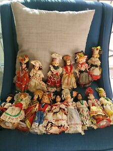 """Lot of 15 Vtg. 8"""" Doll - Corrine's """"Brides of All Nations"""","""