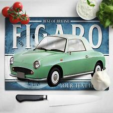 Personalised Nissan Figaro Green Chopping Board Worktop Saver Classic Car CL41
