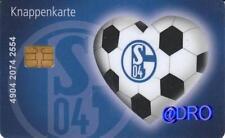 Knappenkarte + FC Schalke 04 + I LOVE Schalke + Hülle + Restguthaben +