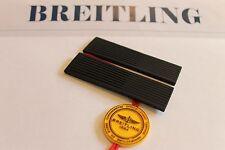 100% Genuine NEW Breitling noir côtelé Diver Pro Rubber Deployment Strap 22-20