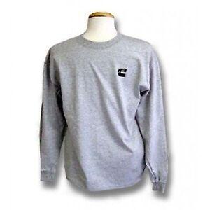 Cummins  diesel gray long sleeve t shirt top NEW tee apparel truck LARGE