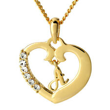 """Initial Necklace """"A"""" - 18ct Gold Plated - Jewellery Womens Fashion Pendant Gifts"""