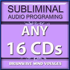 ANY 16 SELF IMPROVEMENT CDs Subliminal Hypnosis Hemi Mind SYNC YOUR BRAIN WAVES!