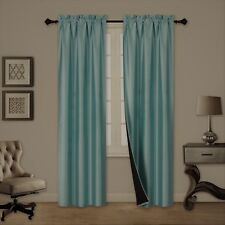 SALE 2 Pc Thick Blackout Insulated Room Darkening Rod Pocket Window Curtain TOM