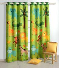 Yuga Blackout Door / Window Curtain Eyelet Jungle Safari Kids Bedroom Curtain