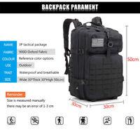 50L Army Military Tactical Backpack Waterproof Hiking Camping Hunting bag 3p