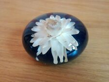 Vintage Resin Captured Flower Paperweight ID0278