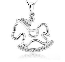 Trojans Necklace Charms Exaggerated Crystal Pendant Jewelry