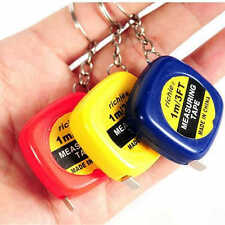 1M Cute Retractable Mini Measure Tape Line Ruler Tape Keychain Key Chain Sewing