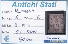 ANTICHI STATI - ROMAGNE - RO0005 - NR. 6 USATO - CATALOGO 650.00€