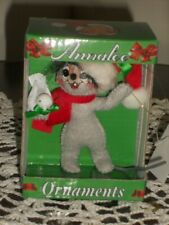 """New Vintage Annalee Collectible Christmas Ornament 3"""" Mouse Holding Dove 2010"""