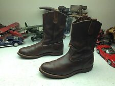 VINTAGE 2000 RED WING PECOS 1187 USA BROWN LEATHER ENGINEER BOSS WORK BOOTS 11 D
