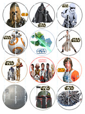 STAR WARS : Edible Cupcake Toppers  FREE SHIPPING in Canada