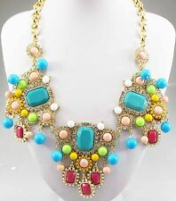 Christmas Gift Pendant  Crystal Bib Statement charm chunky collar Necklace 638