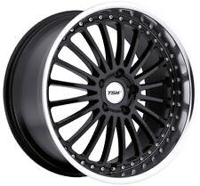 18x8 TSW Silverstone 5x112 Rims +45 Black Wheels (Set of 4)
