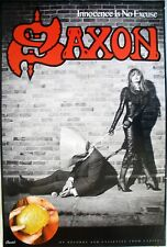 SAXON INNOCENCE IS NO EXCUSE 1985 VINTAGE ORIG MUSIC RECORD STORE PROMO POSTER