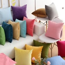 36 Colors Velvet CUSHION COVERS Luxury Throw Pillow Cases Soft Home Modern Decor