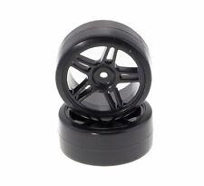 Drifträder Driftreifen 1:10 Schwarz Felgen Doppelspeiche Drift Räder Reifen
