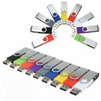 4MB - 64GB USB 2.0 Swivel Flash Memory Stick Pen Drive Storage Thumb U Disk