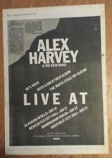 ALEX HARVEY LIVE TOUR 1979 edición anuncio completo Páginas 28 x 39cm Mini