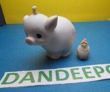 Precious Moments Enesco 1983 Pig Figurine Nativity E 0511 Jonathan & David