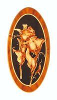 Rosas flores incrustaciones cuadro vintage panel de madera diseño floral...
