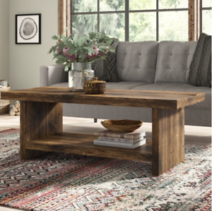 Solid Wood Rustic Handmade Pine Lymington Coffee Table, Finished in Chunky Oak