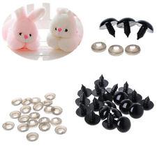 20x  6-20mm Black Plastic Safety Eyes For Teddy Bear/Dolls/Toy Animal/Felting
