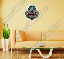 "Evil Scary Gray Mask Gift Idea Wall Sticker Room Interior Decor 20""X25"""