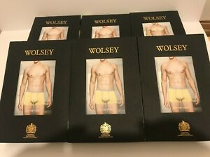 6 pair WOLSEY QUALITY WELL FITTING COTTON  BOXER SHORTS LOW RISE TRUNK LARGE