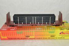 HO scale Roundhouse Cotton Belt SSW RR 60' bulkhead flat car train w/ PIPES LOAD